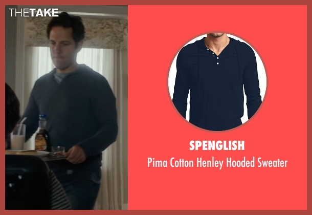 Spenglish blue sweater from The Fundamentals of Caring seen with Paul Rudd (Ben)