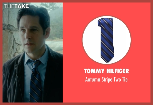 Tommy Hilfiger blue tie from The Fundamentals of Caring seen with Paul Rudd (Ben)