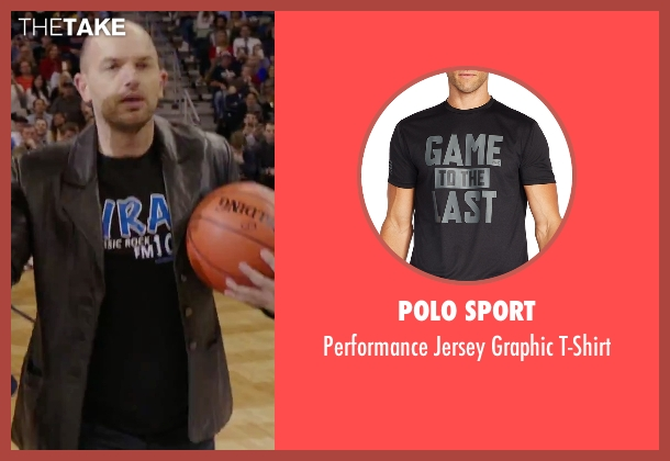 Polo Sport black t-shirt from Daddy's Home seen with Paul Scheer (The Whip)