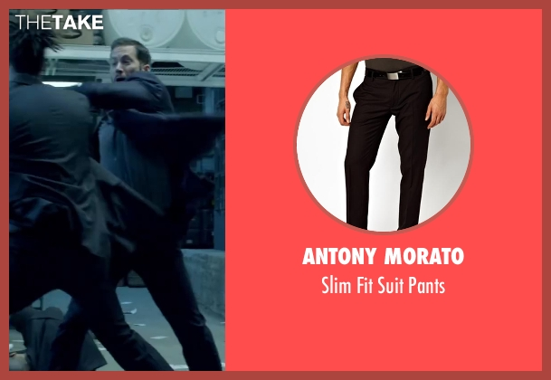 Antony Morato black pants from Brick Mansions seen with Paul Walker (Damien Collier)
