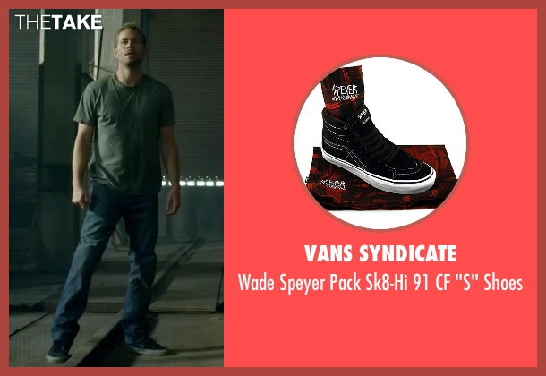Vans Syndicate black shoes from Brick Mansions seen with Paul Walker (Damien Collier)