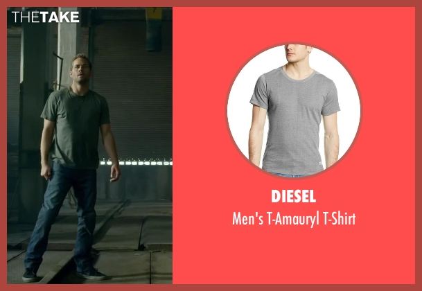Diesel gray t-shirt from Brick Mansions seen with Paul Walker (Damien Collier)
