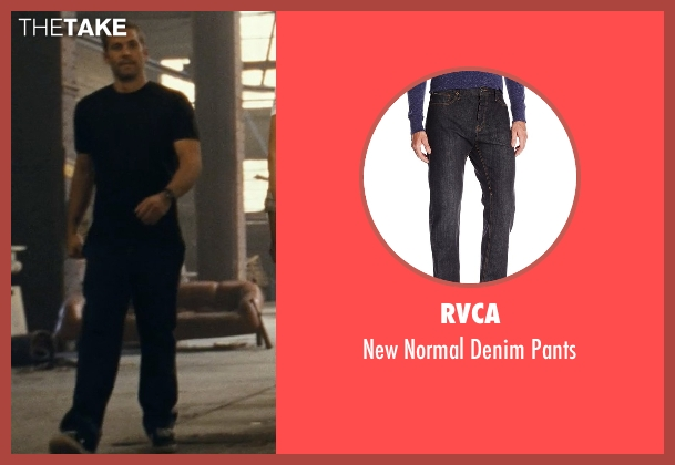 RVCA black pants from Fast Five seen with Paul Walker (Brian O'Conner)