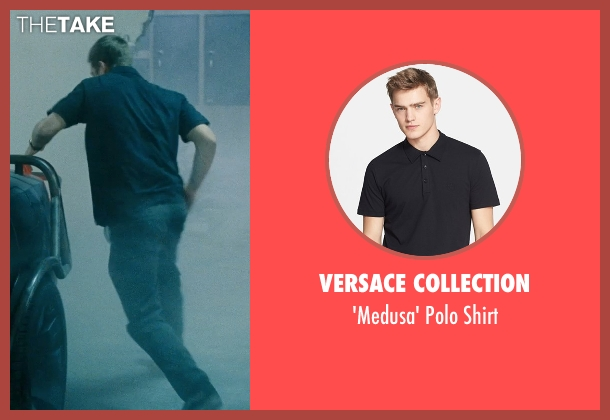 Versace Collection black shirt from Fast Five seen with Paul Walker (Brian O'Conner)