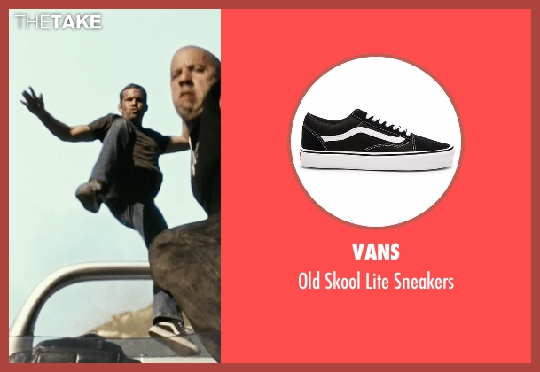 Vans black sneakers from Fast Five seen with Paul Walker (Brian O'Conner)