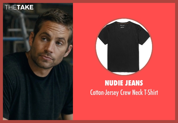 Nudie Jeans black t-shirt from Fast Five seen with Paul Walker (Brian O'Conner)