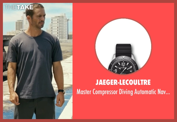 Jaeger-LeCoultre black watch from Fast Five seen with Paul Walker (Brian O'Conner)