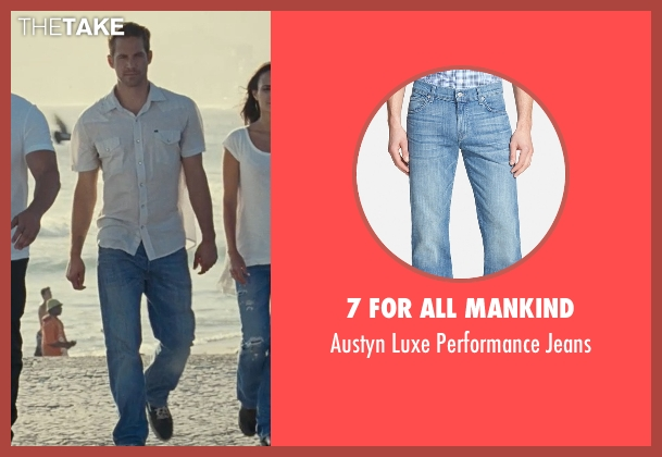 7 For All Mankind blue jeans from Fast Five seen with Paul Walker (Brian O'Conner)