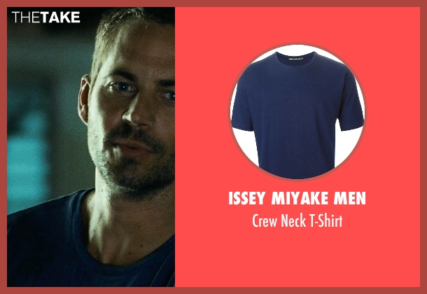 Issey Miyake Men blue t-shirt from Fast Five seen with Paul Walker (Brian O'Conner)