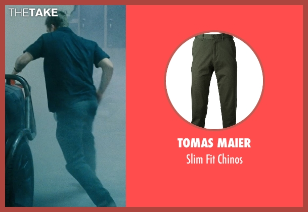 Tomas Maier green chinos from Fast Five seen with Paul Walker (Brian O'Conner)