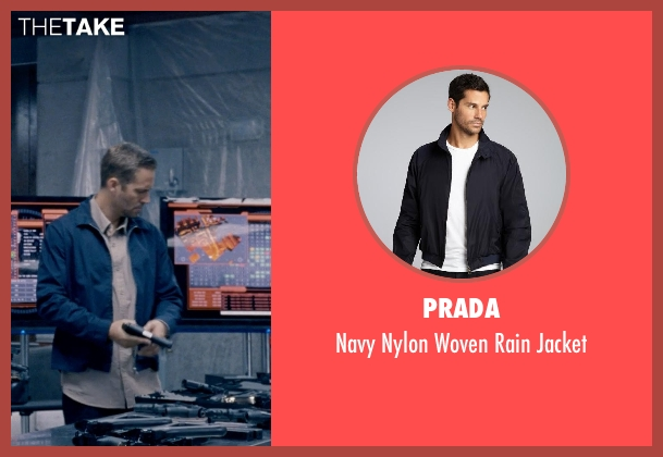 Paul Walker Prada Navy Nylon Woven Rain Jacket from Fast \u0026amp; Furious ...