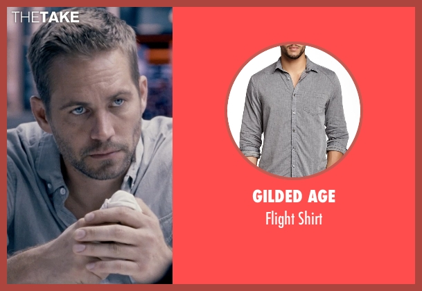 Gilded Age gray shirt from Fast & Furious 6 seen with Paul Walker (Brian O'Conner)