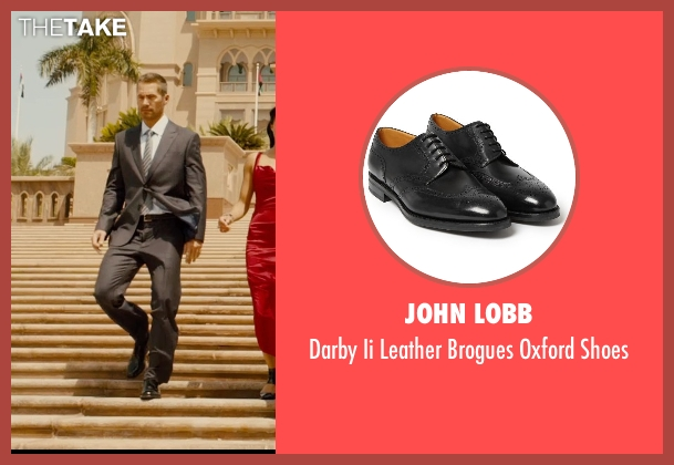 John Lobb black shoes from Furious 7 seen with Paul Walker (Brian O'Conner)