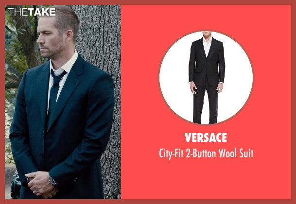 Versace black suit from Furious 7 seen with Paul Walker (Brian O'Conner)