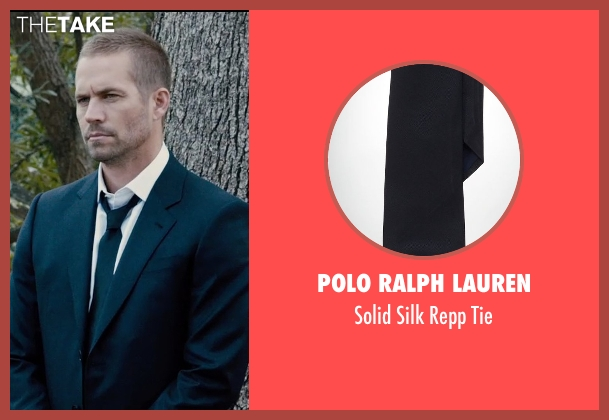 Polo Ralph Lauren black tie from Furious 7 seen with Paul Walker (Brian O'Conner)