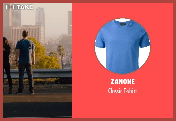 Zanone blue t-shirt from Furious 7 seen with Paul Walker (Brian O'Conner)