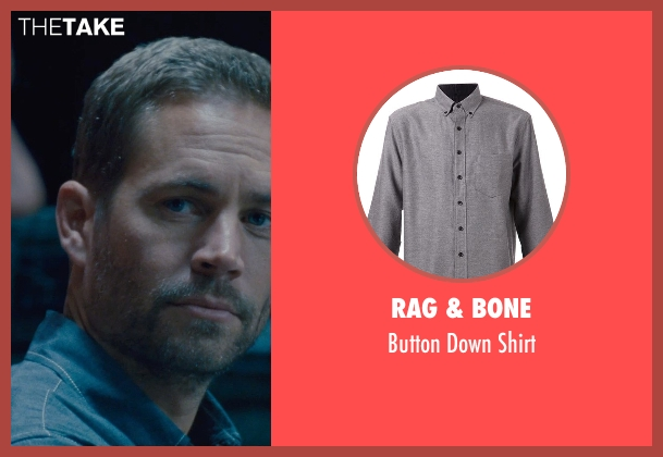 Rag & Bone gray shirt from Furious 7 seen with Paul Walker (Brian O'Conner)