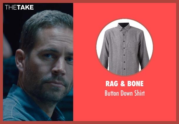 Rag & Bone gray shirt from Furious 7 seen with Paul Walker (Brian O'Conner)