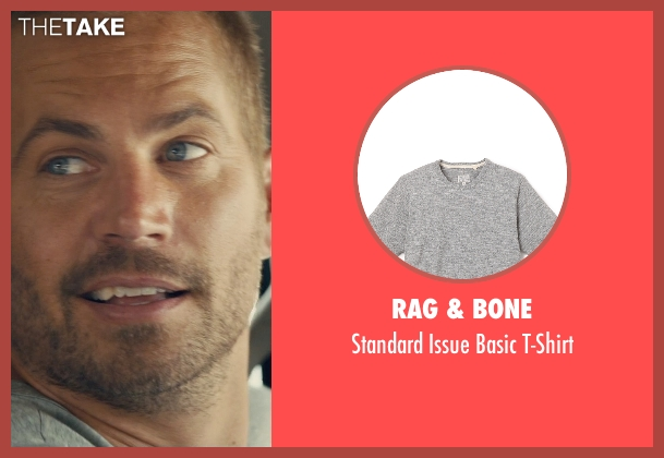 Rag & Bone gray t-shirt from Furious 7 seen with Paul Walker (Brian O'Conner)