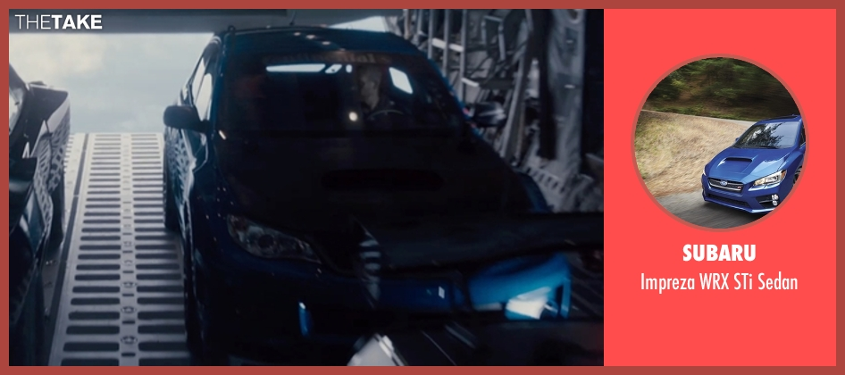 Subaru sedan from Furious 7 seen with Paul Walker (Brian O'Conner)