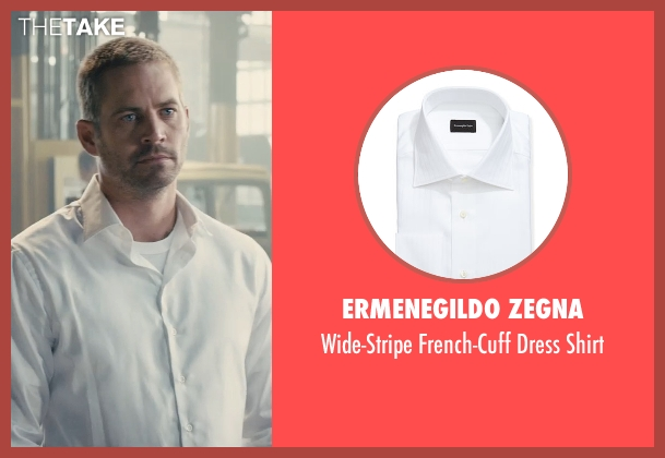 Ermenegildo Zegna white shirt from Furious 7 seen with Paul Walker (Brian O'Conner)