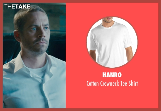 Hanro white shirt from Furious 7 seen with Paul Walker (Brian O'Conner)