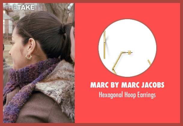 Marc by Marc Jacobs gold earrings from Adult Beginners seen with Paula Garcés (Blanca)