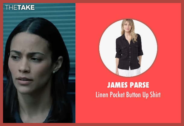 James Parse black shirt from Mission: Impossible - Ghost Protocol seen with Paula Patton (Jane Carter)