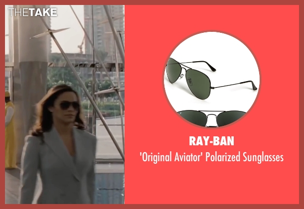 Ray-Ban black sunglasses from Mission: Impossible - Ghost Protocol seen with Paula Patton (Jane Carter)