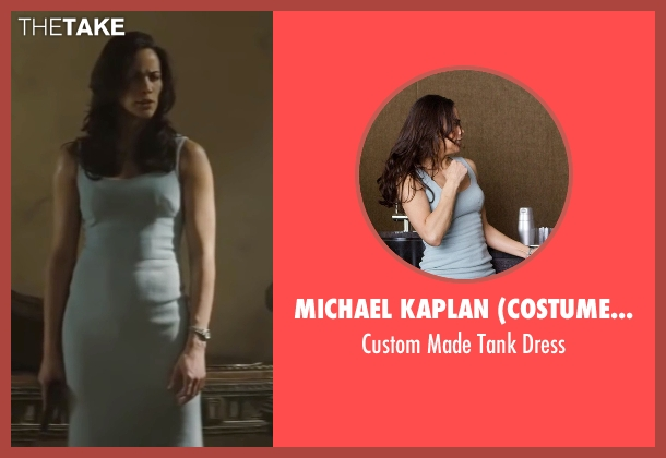 Michael Kaplan (Costume Designer) blue dress from Mission: Impossible - Ghost Protocol seen with Paula Patton (Jane Carter)