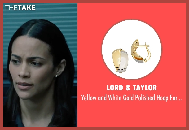 Lord & Taylor gold earrings from Mission: Impossible - Ghost Protocol seen with Paula Patton (Jane Carter)