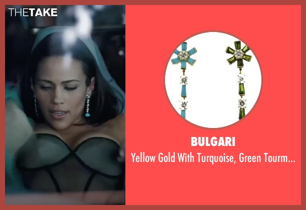 Bulgari green earring from Mission: Impossible - Ghost Protocol seen with Paula Patton (Jane Carter)