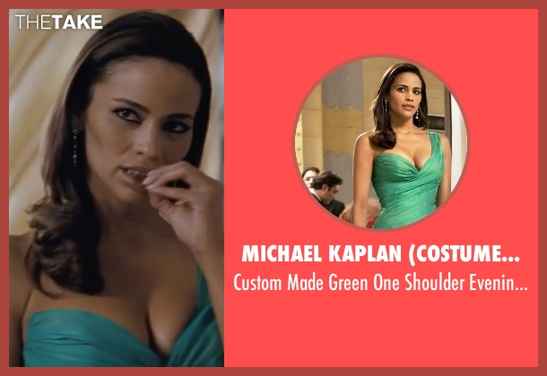 Michael Kaplan (Costume Designer) green gown from Mission: Impossible - Ghost Protocol seen with Paula Patton (Jane Carter)