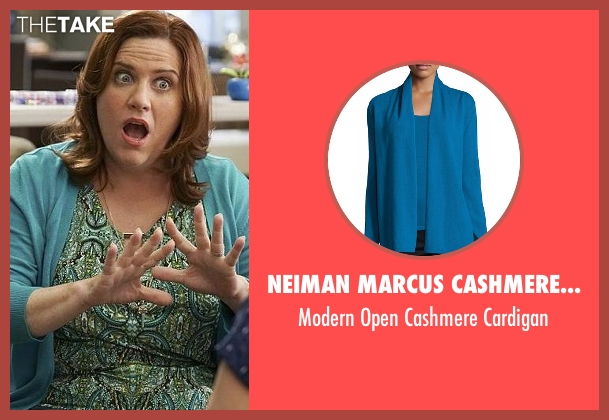 Neiman Marcus Cashmere Collection blue cardigan from Crazy Ex-Girlfriend seen with Paula Proctor (Donna Lynne Champlin)