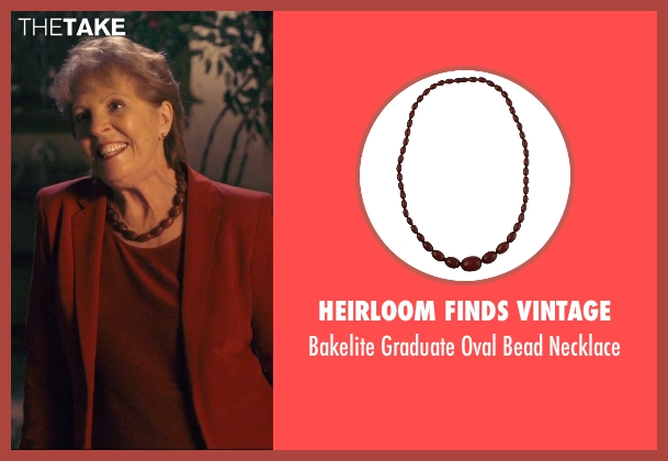 Heirloom Finds Vintage brown necklace from The Second Best Exotic Marigold Hotel seen with Penelope Wilton (Jean Ainslie)