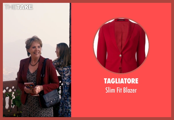 Tagliatore red blazer from The Second Best Exotic Marigold Hotel seen with Penelope Wilton (Jean Ainslie)
