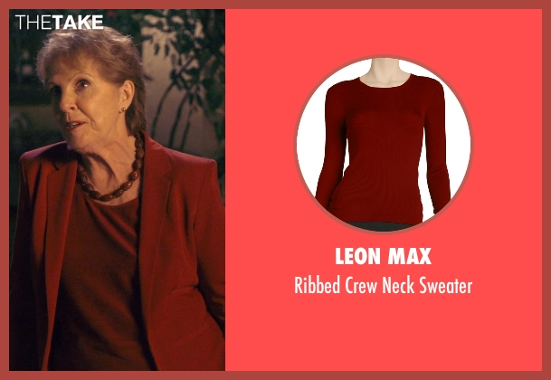 Leon Max red sweater from The Second Best Exotic Marigold Hotel seen with Penelope Wilton (Jean Ainslie)