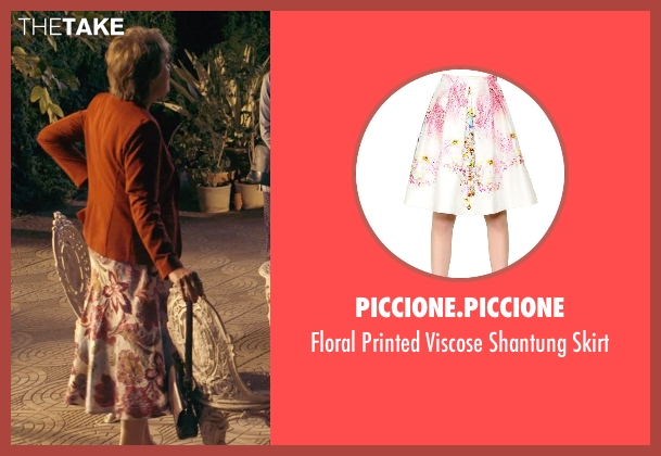 Piccione.Piccione white skirt from The Second Best Exotic Marigold Hotel seen with Penelope Wilton (Jean Ainslie)