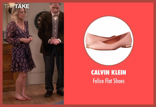 Calvin Klein beige shoes from The Big Bang Theory seen with Penny (Kaley Cuoco-Sweeting)