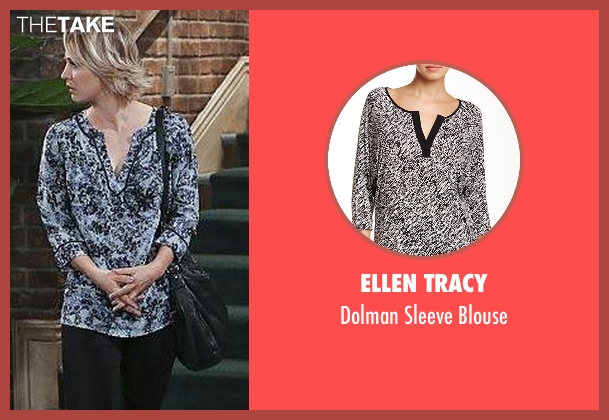 Ellen Tracy black blouse from The Big Bang Theory seen with Penny (Kaley Cuoco-Sweeting)