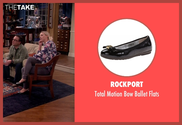 Rockport black flats from The Big Bang Theory seen with Penny (Kaley Cuoco-Sweeting)