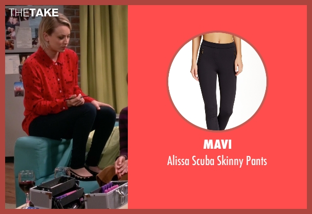 Mavi black pants from The Big Bang Theory seen with Penny (Kaley Cuoco-Sweeting)