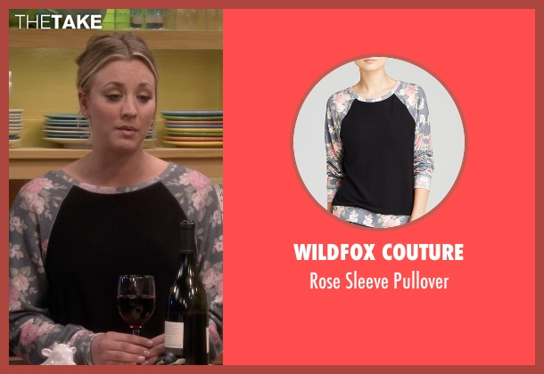 Wildfox Couture  black pullover from The Big Bang Theory seen with Penny (Kaley Cuoco-Sweeting)