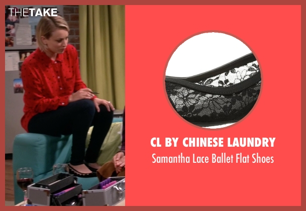 CL by Chinese Laundry black shoes from The Big Bang Theory seen with Penny (Kaley Cuoco-Sweeting)