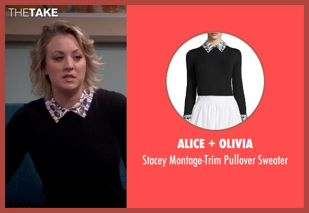 Alice + Olivia black sweater from The Big Bang Theory seen with Penny (Kaley Cuoco-Sweeting)