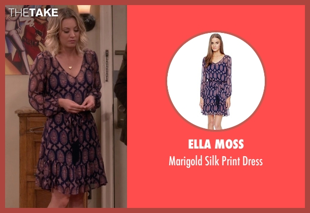 Ella Moss blue dress from The Big Bang Theory seen with Penny (Kaley Cuoco-Sweeting)