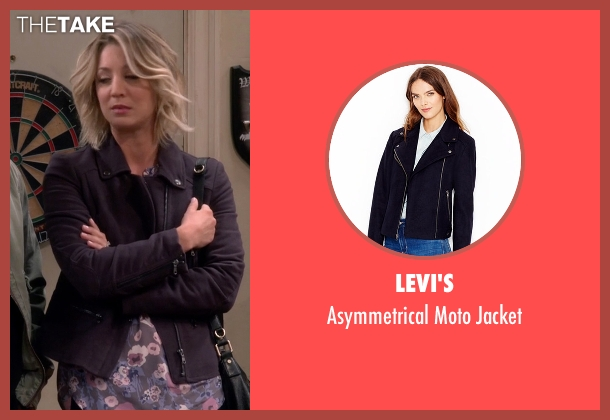 Levi's blue jacket from The Big Bang Theory seen with Penny (Kaley Cuoco-Sweeting)