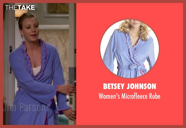 Betsey Johnson blue robe from The Big Bang Theory seen with Penny (Kaley Cuoco-Sweeting)
