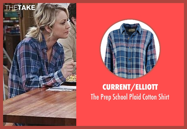 Current/Elliott blue shirt from The Big Bang Theory seen with Penny (Kaley Cuoco-Sweeting)