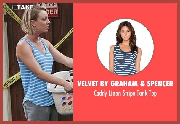 Velvet By Graham & Spencer blue top from The Big Bang Theory seen with Penny (Kaley Cuoco-Sweeting)